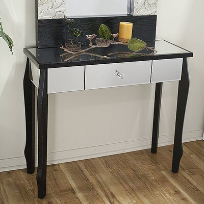 Amelia Console Table Color: Black