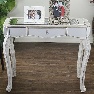 Katrina Console Table Color: White Wash