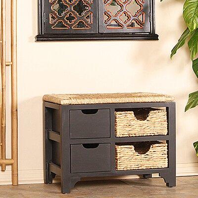 Gean Wood Storage Bench Color: Espresso/Natural