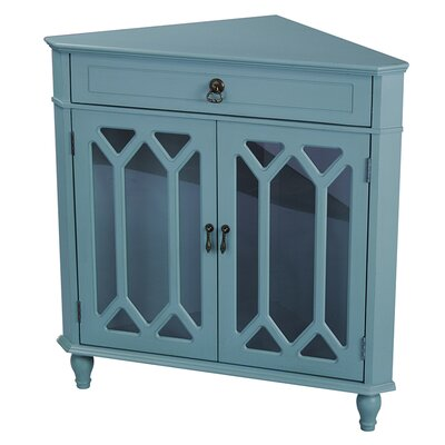 Carly 1 Drawer 2 Door Accent Cabinet Color: Turquoise