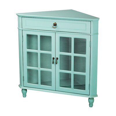Parina 1 Drawer 2 Door Accent Cabinet Color: Turquoise