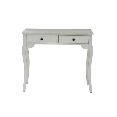 Pinecrest Console Table Color: Ivory Wash