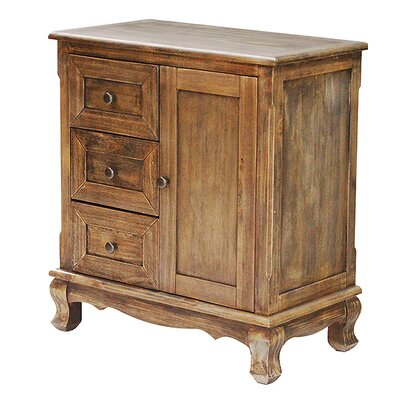 3 Drawer and 1 Door Accent Cabinet Color: Farmhouse Rustic