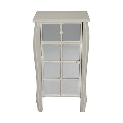 1 Drawer 1 Door Bombay Accent Cabinet Color: Antique White