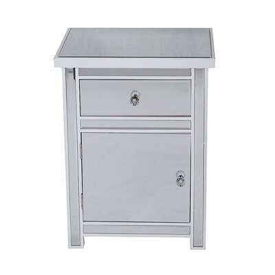 1 Drawer 1 Door Accent Cabinet Color: White