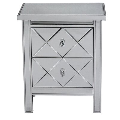 2 Drawer Chest Color: Silver