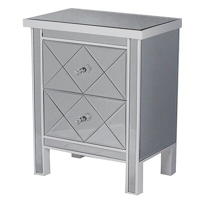 2 Drawer Chest Color: White