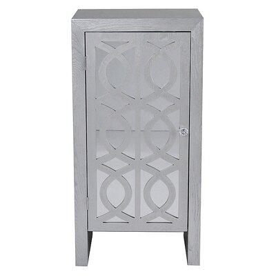1 Door Accent Cabinet Color: Silver