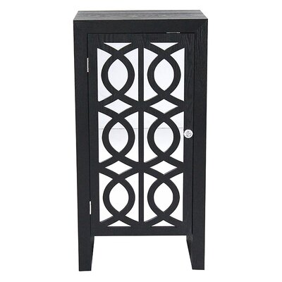 1 Door Accent Cabinet Color: Black