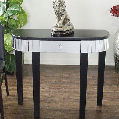 Elenor Mirrored Console Table Color: Black
