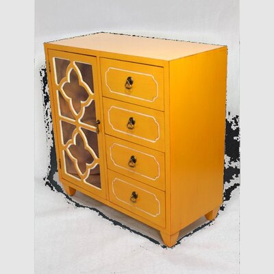 4 Drawer Accent Cabinet Finish: Yellow