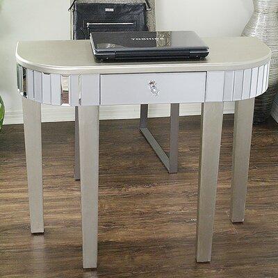 Elenor Mirrored Console Table Color: Silver Champagne