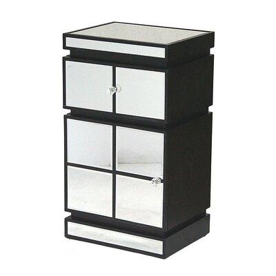 1 Drawer Accent Cabinet Color: Black