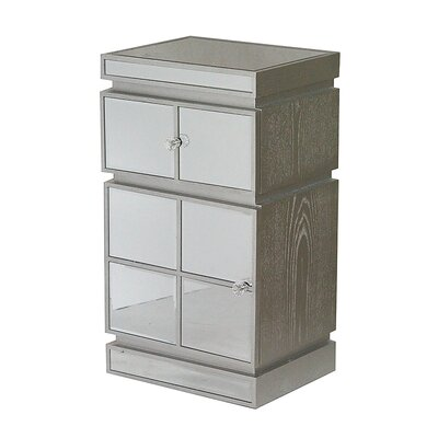 1 Drawer Accent Cabinet Color: Silver