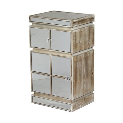 1 Drawer Accent Cabinet Color: White