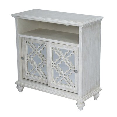 2 Door Accent Cabinet Color: Distressed White