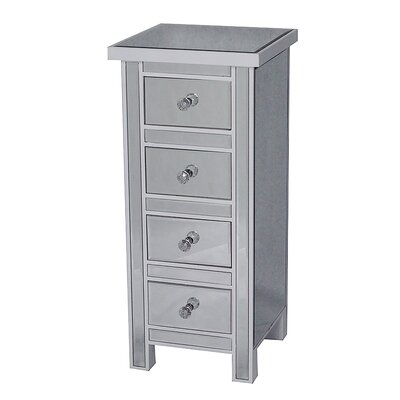 4 Drawer Accent Chest Color: Antique White