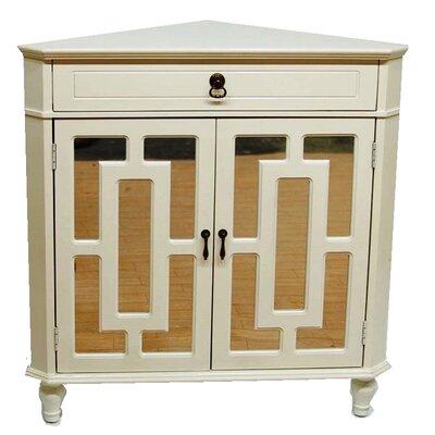 2 Door Accent Cabinet Color: Antique White
