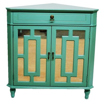 2 Door Accent Cabinet Color: Turquoise