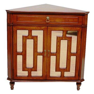 2 Door Accent Cabinet Color: Woodgrain