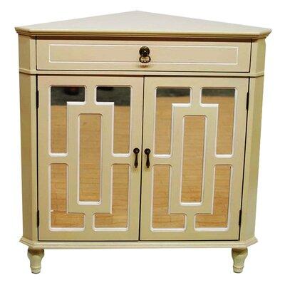 2 Door Accent Cabinet Color: Beige/White Trim