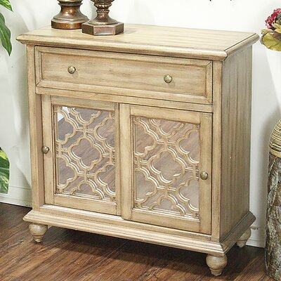 1 Drawer 2 Door Accent Cabinet Color: Woodtone Finish