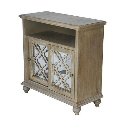 2 Door Accent Cabinet Color: Ashwood