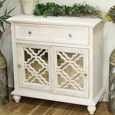 1 Drawer 2 Door Accent Cabinet Color: Distressed White