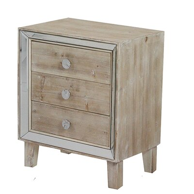 3 Drawer Accent Chest Color: White Wash