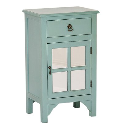 1 Door Accent Cabinet Color: Turquoise