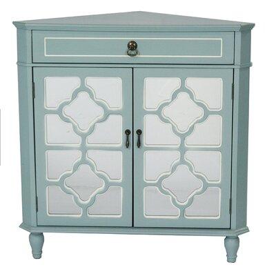 1 Drawer 2 Door Accent Cabinet Finish: Aqua