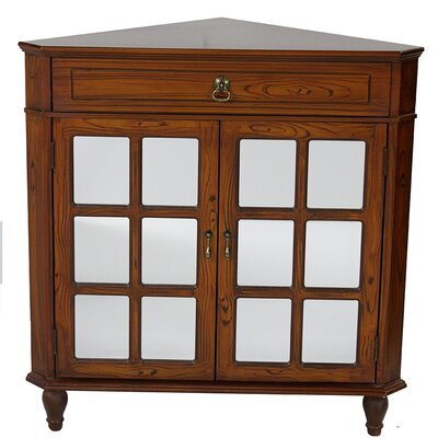 2 Door Accent Cabinet Color: Woodgrain