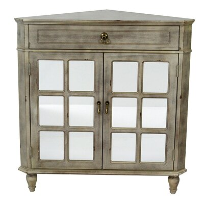 2 Door Accent Cabinet Color: Antique Gray