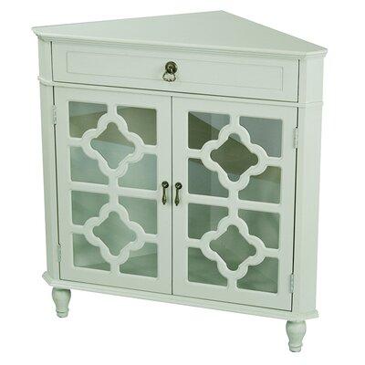 Moretown 1 Drawer 2 Door Accent Cabinet Color: Sage Green