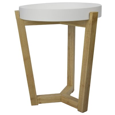 "Plant Stand Size: 19.7"" H x 15.8"" W x 15.8"" D, Color: White"