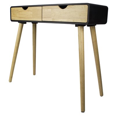 Euro Console Table Color: Black