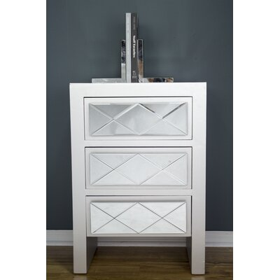 Windmere 3 Drawer Accent Chest Color: Silver