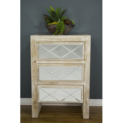 Windmere 3 Drawer Accent Chest Color: White