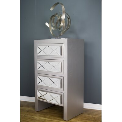 Windmere 4 Drawer Accent Chest Color: Silver