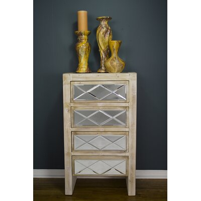 Windmere 4 Drawer Accent Chest Color: White