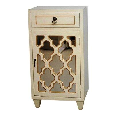 Accent Cabinet Color: Antique White/Gold