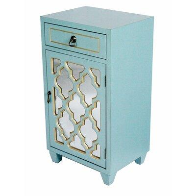 Accent Cabinet Color: Light Blue/Gold