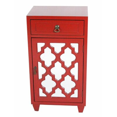 Accent Cabinet Color: Red