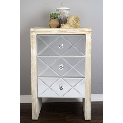 3 Drawer Accent Chest Color: Beige