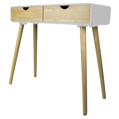 Euro Console Table Color: White