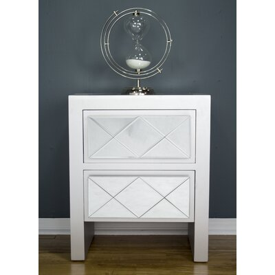Windmere 2 Drawer Accent Chest Color: Silver