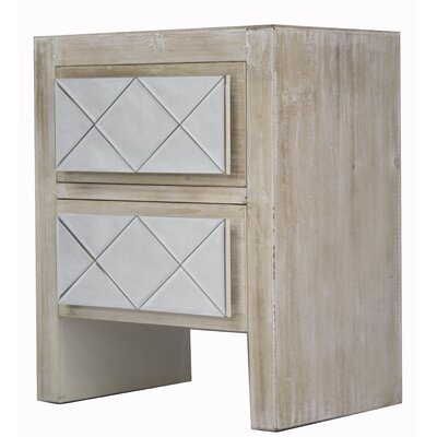 Windmere 2 Drawer Accent Chest Color: White