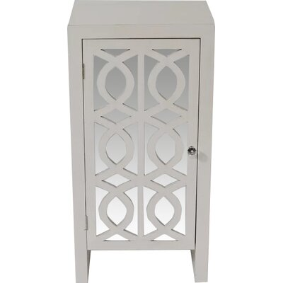 Cabinet with Mirror Accent Cabinet Color: White