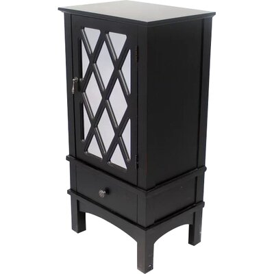 Wooden Accent Cabinet with Mirror Insert Color: Black