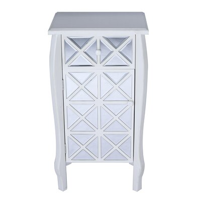Spears Mirrored 1 Drawer Accent Cabinet